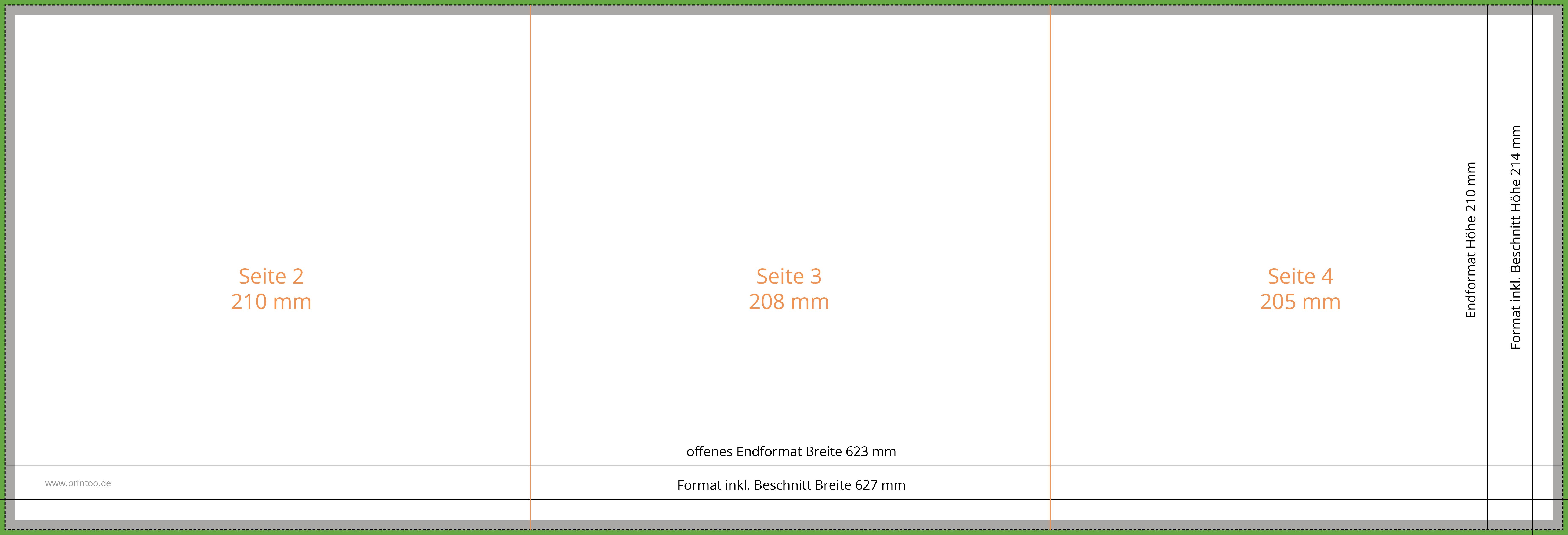 Broschüre 21x21cm, 8 Seiten + Umschlag